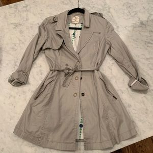 Tulle trench jacket
